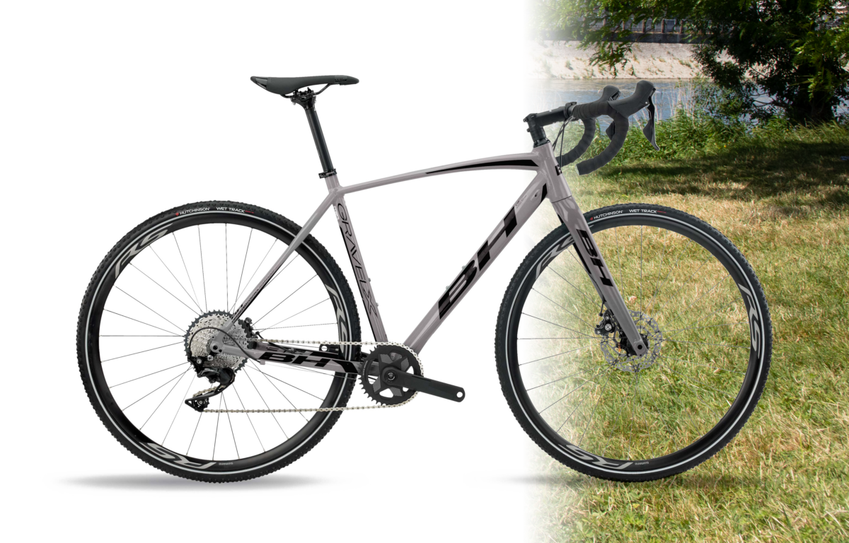 Vélo Gravel - Chassis route, roue vtc